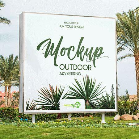 Outdoor Advertising Free PSD MockUp
