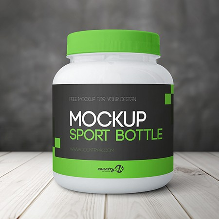 Free Sport Bottle PSD MockUp in 4k