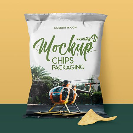 Free Chips Packaging MockUp in 4k