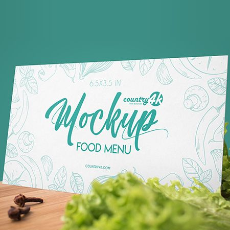 Free Food Menu PSD MockUp in 4k